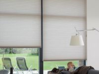 Cortinas Duette. La cortina Duette® Luxaflex® fabricada en tela 100% poliéster, posee una estructura celular de celdas tipo panal que otorgan aislación térmica y absorción acústica.